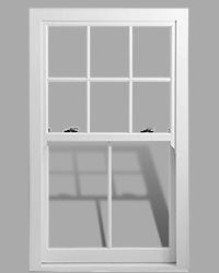 Heritage Rose uPVC sash window