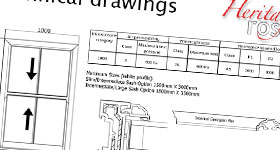 Heritage Rose technical drawing