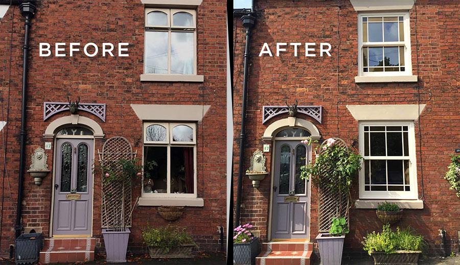 uPVC sash windows vs original timber